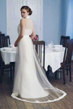 Brautkleid Empire raffiniert