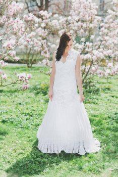 gehäkelte Brautkleider liegen im Trend