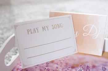 Musikwunschkarten Hochzeit Lachs