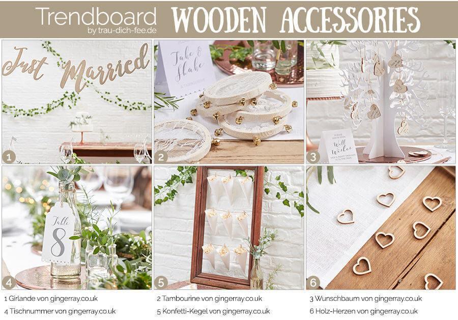 Trendboard Hochzeit Accessoires