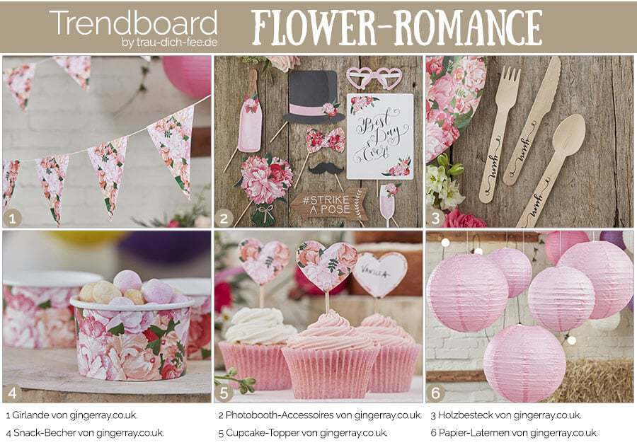 trendboard Hochzeitsaccessoires Flower-Romance Trau-Dich-Fee